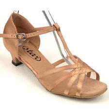 "163504 Flesh 1.3""S Very Fine Quality Latin Rhythm Salsa Dance Shoes (sz5 -10)"