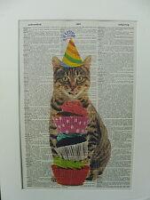 Cat Print No.21, cute cats, birthday gift, tabby cat, funny cat