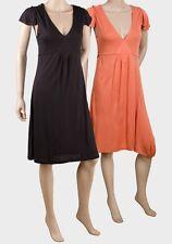 NEW LADIES LIGHT SUMMER BEACH DRESS BLACK OR ORANGE UK SIZES 10 12 14