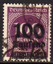 Reich 1923 MI 289a  signed INFLA  CANC  VF