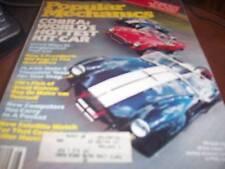 Popular Mechanics Aug 1982 Cobra Hottest Kit Car
