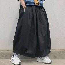 Damen Japanisch Harem Baggy Cargohose Skateboard Hose Gummibund