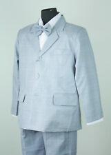 New Boys Vintage Plaid Formal Jacket Suit Size 0-16 Beige Blue Wedding