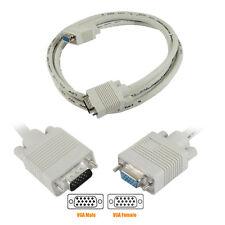 1m 2m Cable de extensión VGA de macho a hembra plomo para PC Laptop Lcd TFT Monitor