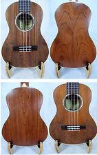 Alulu solid mahogany tenor ukulele, green abalone, laser sea fish pattern-1