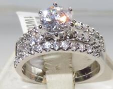 1W009 Mujer Simulado Diamante Anillo Boda & CONJUNTO TAMAÑO T EE. UU. 10
