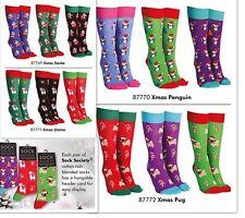Novelty Funny Christmas Socks Llama, Santa, Dog,Penguin Xmas Gift Present Unisex