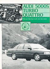 1985 Audi 5000S Turbo Quattro Classic Original Article