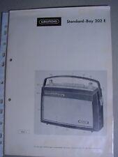 C591/Grundig Radio istruzioni Standart-Boy 202e 1962