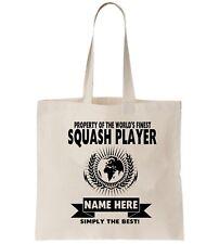 Squash Lecteur Personnalisé Fourre-Tout Sac Shopping Merci Amend Cadeau