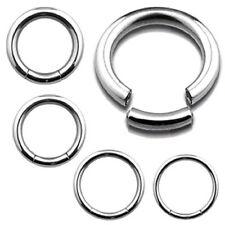 8g - 16g  Heavy Gauge Segment Ring Earring Sleeper Clicker Hoop Genital Ring Bar