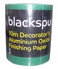 Blackspur 10m Roll Decorator's Aluminium Oxide Sandpaper Choose 60g, 80g or 120g