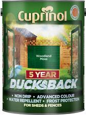 Cuprinol Ducksback 5 ans abri et clôture tache de peinture 5 litres de protéger toutes les couleurs