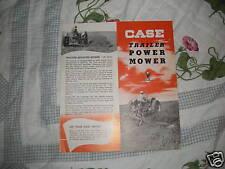 Case Tractor Mower dealer's brochure