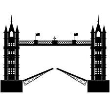 """Sticker """"Tower Bridge"""" Pont Basculant Londres London, Coloris Divers (MONU003)"""