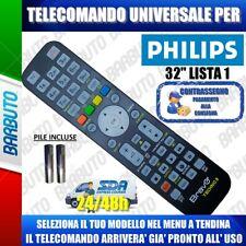 TELECOMANDO UNIVERSAL PHILIPS 32; CLICCA SUL TUO MODELLO LO RICEVERAI GIA PRONTO
