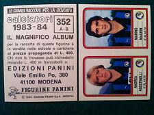 CALCIATORI 1983-84 83-1984 n 352 ATALANTA AGOSTINELLI MAG Figurina Panini velina