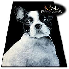 ORIGINAL ANIMAL CARPETS 'FLASH' FRENCH BULLDOG black white CHEAP Rugs Carpet
