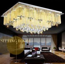 New Elegant Modern Crystal Ceiling Fixture Lamp Chandelier LED Lighting Lights