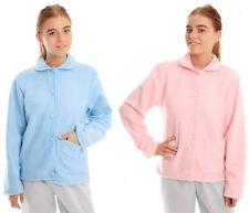 ea656e6a1f Señoras para mujer Chaqueta de cama de lana botón a través de Margarita  Rosa o Azul claro 10 a 28