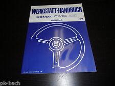Werkstatthandbuch Nachtrag Honda Civic 4WD ab Baujahr 1987!