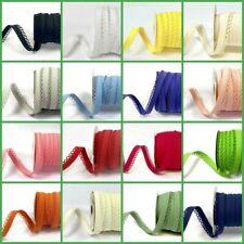 Picot Lace Edge Plain Bias Binding Trimming Edging - Free Postage - 24 Colours