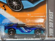 HW HOT WHEELS 2012 CODE CARS #17/22 YUR SO FAST HOTWHEEL BLUE RACE TRACK READY