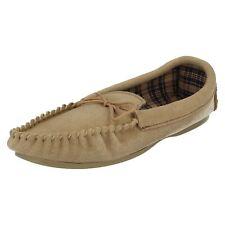 beige da donna BELLA stile mocassino pantofola, in camoscio VERO
