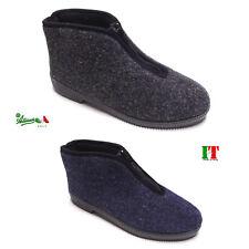 Pantofole ciabatte uomo cerniera italiane economiche calde invernali Grigie Blu