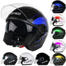 LEOPARD LEO-608 Open Face DVS Motorbike Motorcycle Helmet Scooter Inner Visor