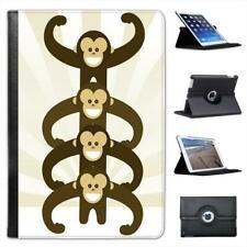 Cute Monkey Power Folio Leather Case For iPad Mini & Retina