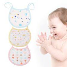 Newborn Baby Kids Boys Girls Waterproof Aprons Cotton Baby Dinner Feeding Bibs E