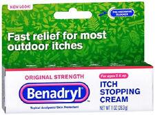Benadryl Topical Itch Stopping Cream Original Strength 1 oz