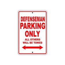 Defenseman Parking Only Hockey Player Gift Decor Novelty Garage Aluminum Sign