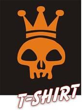 King skull emo club pirate dance music reggae T-shirt