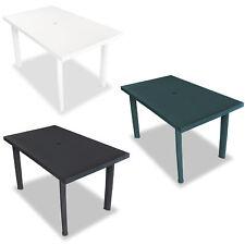 vidaXL Table de Jardin Plastique Multicolore Table à Manger Patio Terrasse