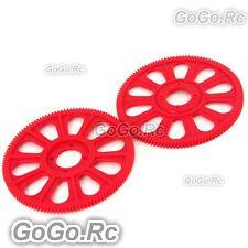 Tarot Red Slant Thread Main Drive Gear 121T x2 For T-Rex Trex 450 (RH45156RD)