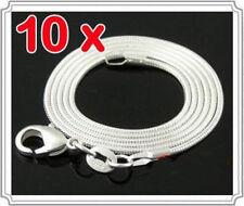 10pc 925Sterling Silver Jewelry Snake Bone Chain Women Men Necklace 1-4MM C008