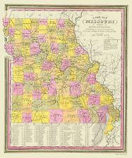 Old State Map - Missouri - Mitchell 1846 - 23 x 27.68