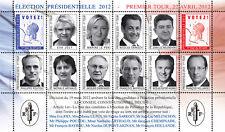 """VIGNETTE POLITIQUE """"France Présidentielle 1er Tour - 10 Candidates"""" 2012"""