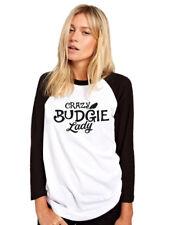 Crazy Budgie Lady-Pájaro Amante Regalo de propietario del animal doméstico Top para Mujer de béisbol