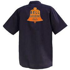 Bell Gasoline Oils - Mechanics Graphic Work Shirt  Short Sleeve