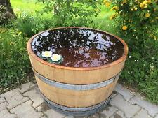 Holzfaß Miniteich Eichenfaß Weinfaß Holzfaß Pflanzkübel halbes-Faß abgeschliffen