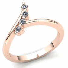 genuine 1ct round cut diamond ladies 4stone twisted wedding band 18k gold