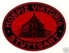 Stuttgart l'hospice viktoria valise autocollant Luggage label