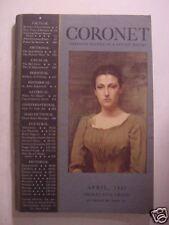 CORONET April 1937 BERTRAND RUSSELL DOROTHY BAKER LEE FALK IVAN SANDERSON +++