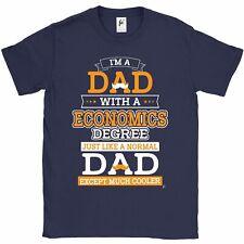 Sono un papà con Economia grado più fresco rispetto al normale Papà Festa Del Papà T-shirt da uomo