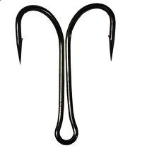 30pcs Saltwater Double Hook Dual High Carbon Steel Black Fishing Hooks 8#-4/0