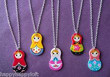 Bambole Russe piuttosto Carino Kitsch MATRIOSCA Girls Collana Ciondolo Regalo di compleanno