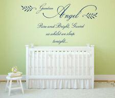 Guardian Angel Quote, Vinyl Wall Art Sticker, Mural, Decal. Bedroom, Nursery